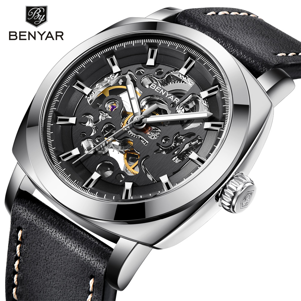 Relogio Masculino BENYAR Mens Watches Top Brand Luxury Automatic Mechanical Men Business Waterproof Sport Watch Reloj Hombre
