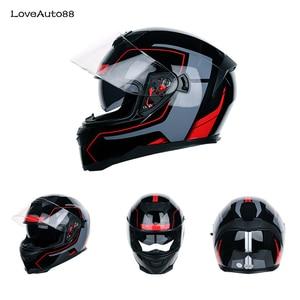 Image 4 - Motorrad Helm Full Face ABS Motorrad Helm downhill racing berg Sicher Racing helm Motorrad Helm Für Frau/Mann