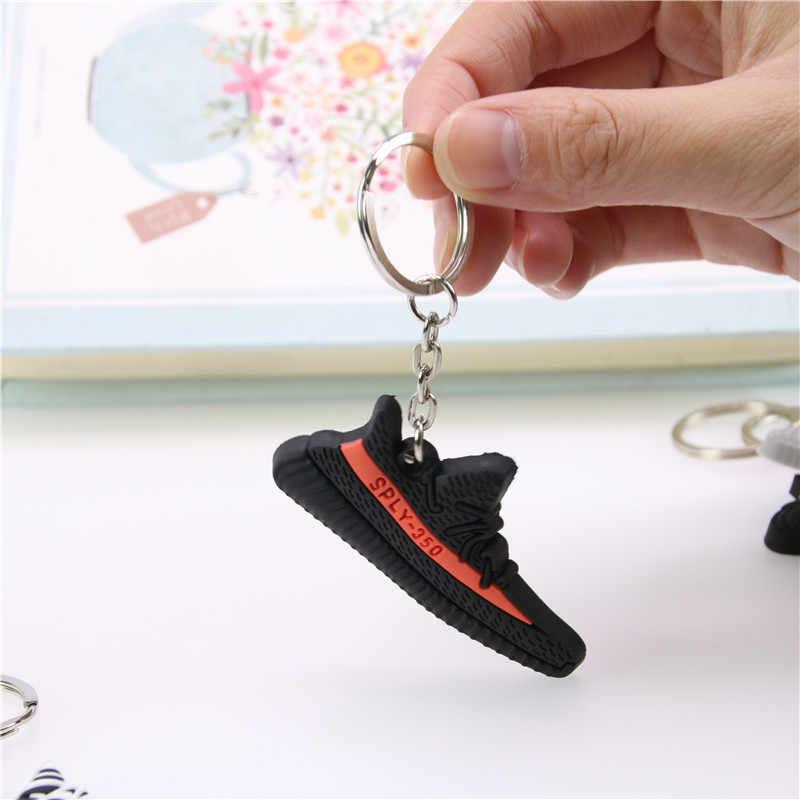 Mini Silicone TĂNG CƯỜNG 350 V2 Giày Móc Khóa Túi Quyến Rũ Người Phụ Nữ Nam Trẻ Em Móc Khóa Móc Khóa Quà Tặng SPLY-350 CHIC Giày Sneaker móc khóa