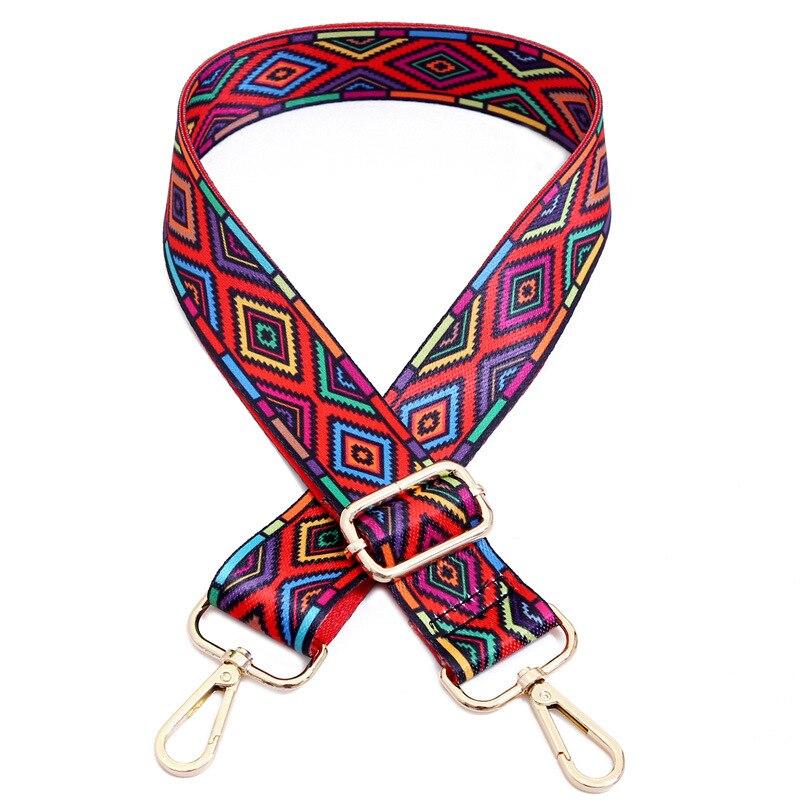Nylon Belt Bag Straps Rainbow Obag Accessories Adjustable Wide Strap for Women Shoulder Messenger Bags Obag Handle Handbag Strap