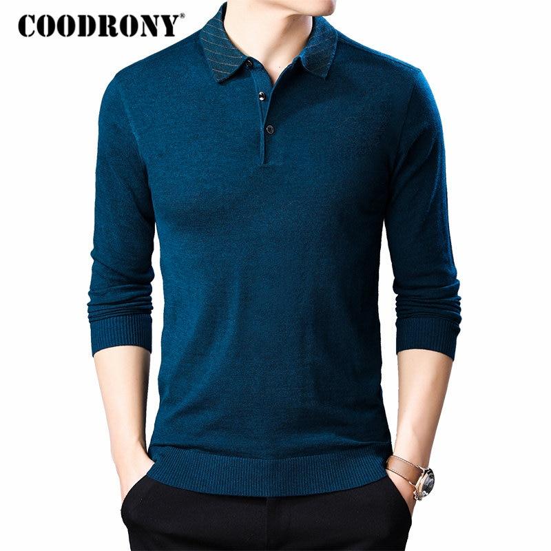 COODRONY Brand Sweater Men Knitwear Shirt Pull Homme Streetwear Casual Pullover Men Autumn Winter Mens Warm Wool Sweaters 91050