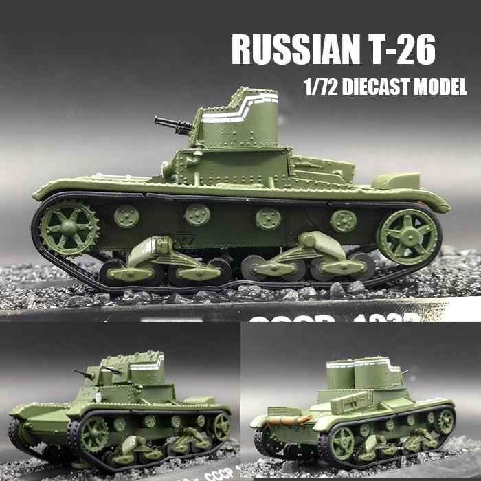 Segunda Guerra Mundial Russo T 26 Tanque 1 72 Diecast Modelo Soviético Tanque De Infantaria Leve Carrinhos De Brinquedo E De Metal Aliexpress