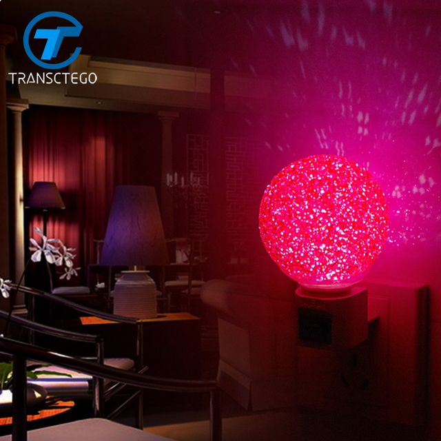 Us 8 55 10 Off Led Magic Crystal Ball Light Induction Plug Nightlight Baby Bedroom Bedside Night Light Creative Energy Saving Night Lamp In Night