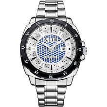 6 11 fashion men sport quartz watches casual brand skeleton solar powered watches steel band 30M
