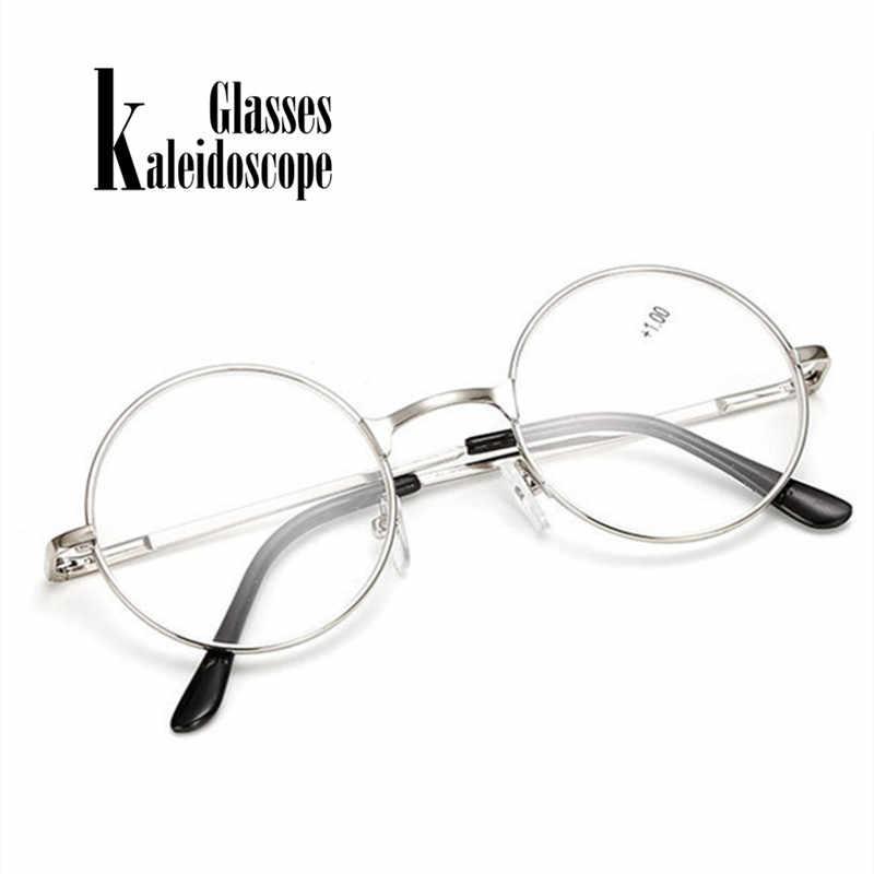 2052fe62f9 ... Vintage Round Metal Spring Legs Reading Glasses Retro Men Women Mirror  Eyeglasse Metal Frame Red Eyewears ...