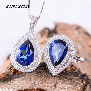 KJJEAXCMY Fine jewelry,  Multicolored jewelry 925 silver inlay Tanzania color Topaz Ring simple wholesale female models