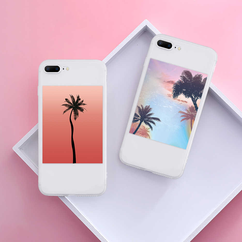 Summer Phone Cases For Huawei Mate 20 Pro 10 Lite For Huawei P30 P20 P8 P9 P10 Pro Lite 2017 P Smart Plus 2019 Matte White Coque
