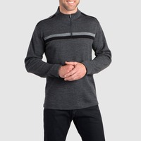 Man 100% Merino Wool Men Quarter 1/4 Zip Out door Odor Fighting Sweater Warm Thermal Warmth Long Sleeve Shirt Tops Washable