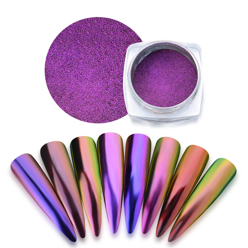 Mtssii Chameleon Mirror Nail Glitter Powder Neon Aurora Effect Mermaid Nail Art Dust Chrome Pigment Manicure Decoration(China)