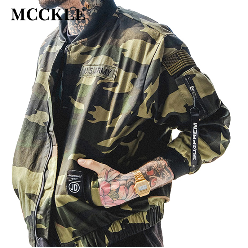 Spring Thin Camouflage Bomber Men's Jacket Camo Military Army Green Baseball Zipper Mens Jackets 2019 Patchwork Short Coat Male