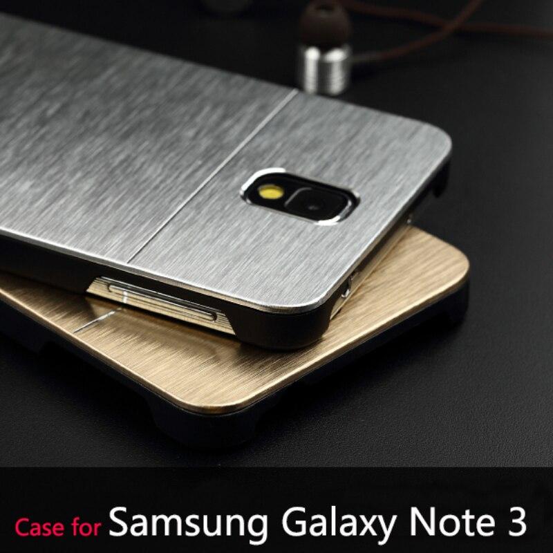 Deluxe cepillo logo metal carcasas para samsung galaxy note 3 iii n9000 accesori