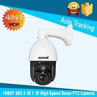 HD 1080 P 36x зум Starlight ИК 150 м 4 в 1 открытый автоматическое слежение за высокие Скорость купол Камера DWDR CMOS Сенсор sony291 PTZ Камера