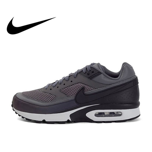 save off 8e53c ac38f Original Authentic Official Nike Air Max BW 3M Dark Grey Men s Breathable  Running Shoes Sports Sneakers Outdoor Durable 881981