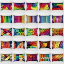 Many colors rhombus mix  pattern men women rectangle pillow case home cover