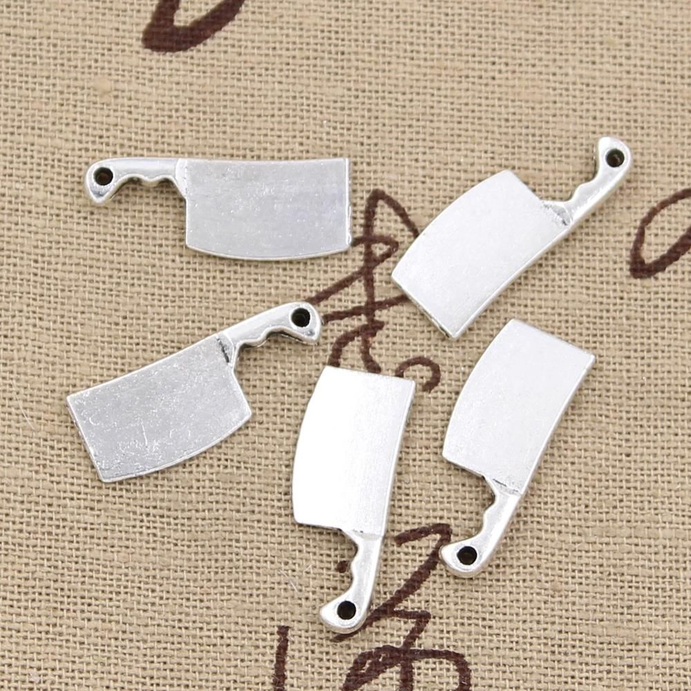 12pcs Charms Kitchen Knife Meat Cleaver 23x9mm Antique Making Pendant Fit,Vintage Tibetan Silver Bronze,DIY Handmade Jewelry