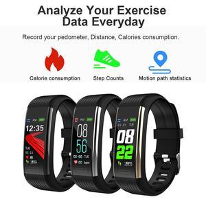 Image 2 - Смарт часы R1 для мужчин и женщин, фитнес трекер с функцией измерения пульса и давления, спортивные наручные часы для Ios, Android, PK, Mi Band 4