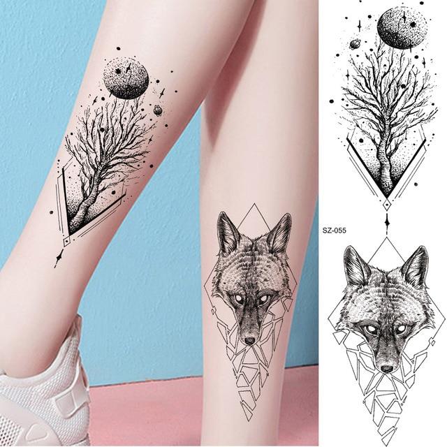 Rejaski Body Arm Legs Fashion Tattoo Stickers Women Moon Tree
