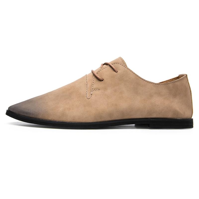 Italiano Luxo Sapatos Preto Elegante Para Couro Trabalho Moda Homens Vestido cáqui 2018 Marca Formal Apartamentos Masculinos cinza Oxford Calçados Designer De Escuro AxYrqUAn