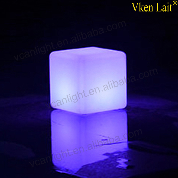 8 PCS/lot 20*20*20 cm Couleur Changeante lumière LED waterproof Cube VC-G2020