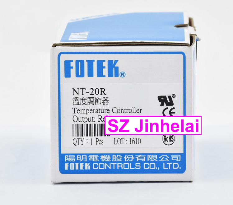 100% New and original FOTEK Temperature controller  NT-20R   90-265VAC  Relay output 100% new and original fotek photoelectric switch a3g 4mx mr 1 free power photo sensor
