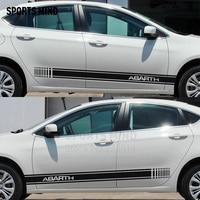1 Pair Sports mind Car Body Stickers Decal For ABARTH FIAT 500 Punto Ducato Stilo Bravo Grande Punto Panda Linea Doblo palio
