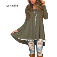 Firm offers eaby amazon hot style autumn/winter bud silk joining together big code sets round collar long-sleeved dress