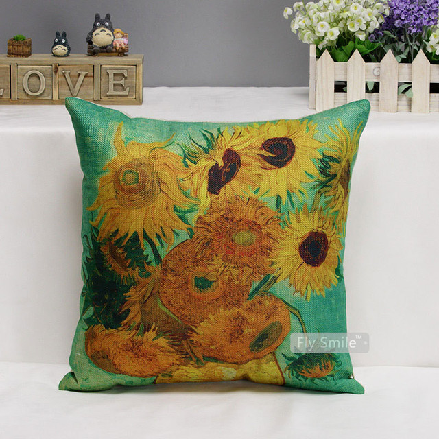 Classic Retro Floral Printed Cushion Cover