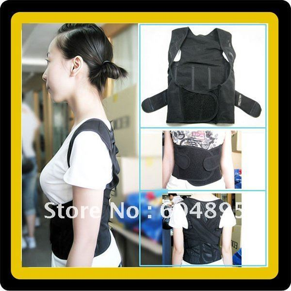 Free Ship New BABAKA Back Straighten Posture Corrective Brace Adjustable Beauty Body Shaper Brace Rectify Back Supporter