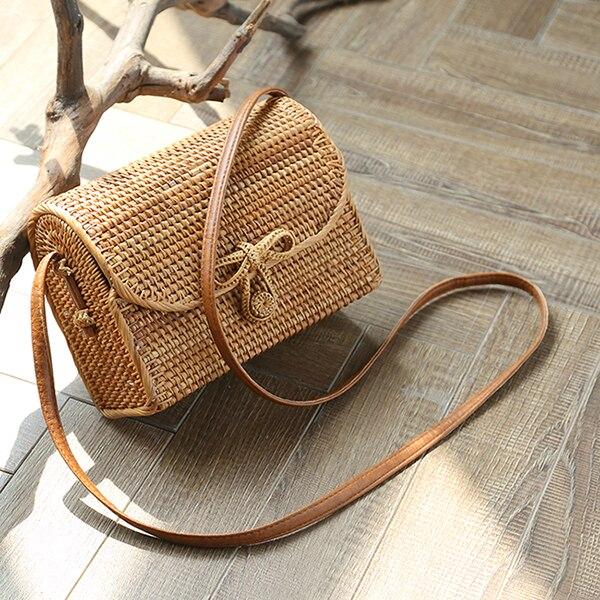 2018 neue Platz tasche einzelnen schulter schräg überspannt hand maß lange cane reben woven tasche von alten Persischen MIA strandtasche