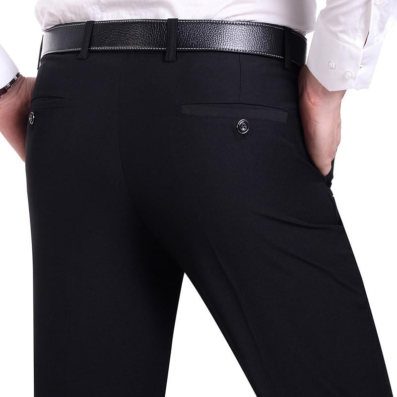 Pantalones de traje de los hombres Pantalones de vestir de moda para hombre Pantalones de vestir para hombre Pantalones de traje formal negro Hombre de negocios vestido de boda Casual hombres Trouse