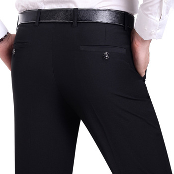 Suit Pants Men Fashion Dress Pants Social Mens Dress Pants Black Formal Suit Pants Business Male Wedding Dress Casual Men Trouse Men's Suit Pants