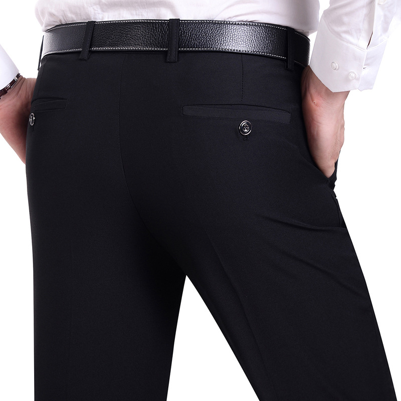 Suit Pants Men Fashion Dress Pants Social Mens Dress Pants Black Formal Suit Pants Busin ...