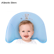 2019 New Apple Type Baby Styling Pillow Newborn Anti-head Memory Cotton Core Baby Pillow 0-12m Gift For Boy Girl 100%pure Cotton
