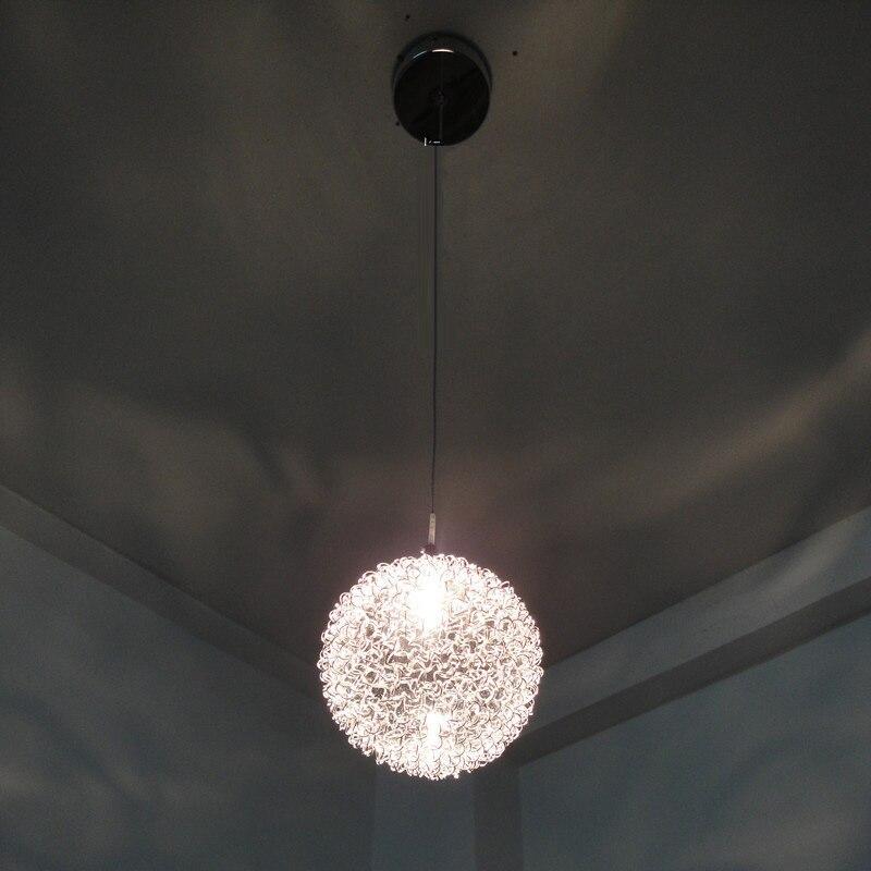 New Modern Creatived Aluminum Wire Ball Pendant Lamp Silver Bedroom Pendant Light Living/Sleeping Room Pendant Lights 4pcs new for ball uff bes m18mg noc80b s04g