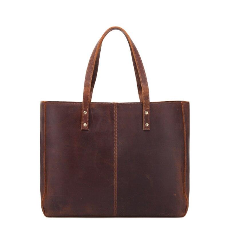 Европа и США Ретро Ручной Треск большой емкости Сумочка горизонтальная сумка сумки кожаная сумка