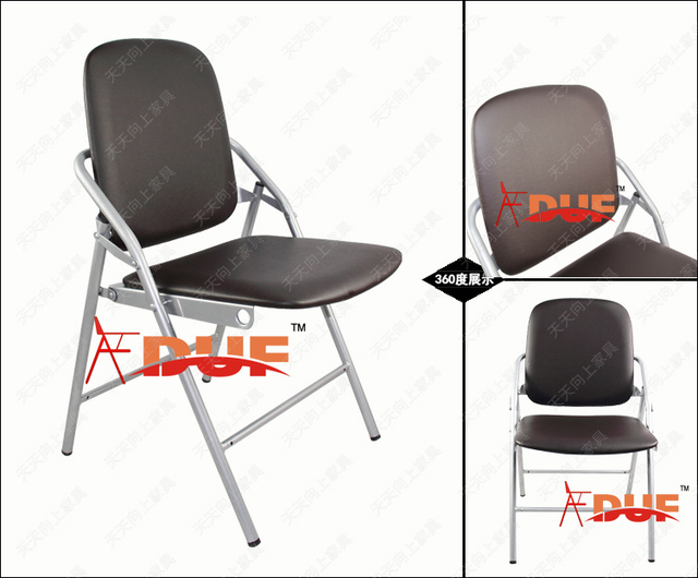 Modern PU Folding Conference Chair Meeting Chair Sturdy Construction Nesting  Chair