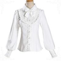 Winter Gothic Plus Velvet Thick Warm Shirt Lolita Slim Temperament Robe Lolita Victorienne Shirt Spot Honeysuckle
