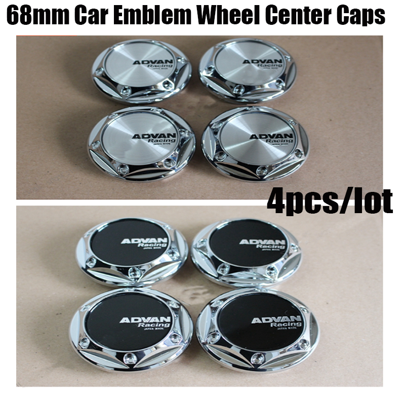 Tuning Car-Styling 68mm Auto Wheel <font><b>Cap</b></font> ADVAN Racing Advan Center <font><b>Caps</b></font> <font><b>Hub</b></font> <font><b>Cap</b></font> ADVAN Wheels Covers <font><b>Caps</b></font> Fit All Car Accessories image