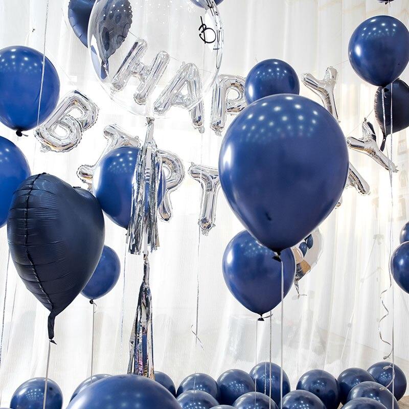синие шары с днем рождения картинки как