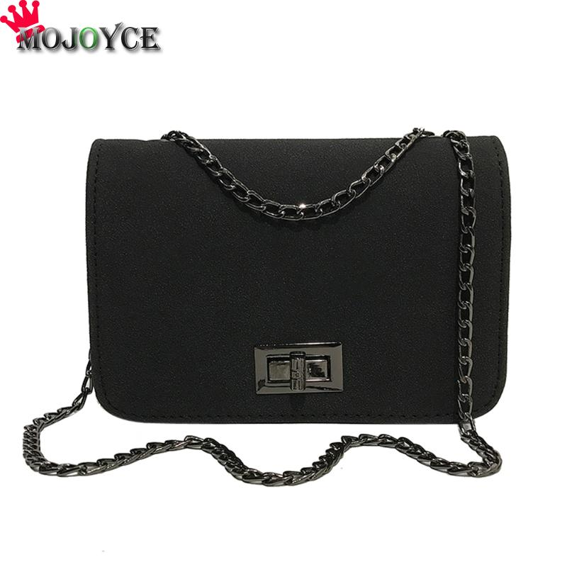 Women Sling Shoulder Crossbody Bag Hasp Solid Chain Women Bag Messenger Bag Lady Girls PU Leather Scrub Flap Casual Handbags simple chain ring leather mini women crossbody bags small women splice bag messenger shoulder sling purse lady handbag with pink