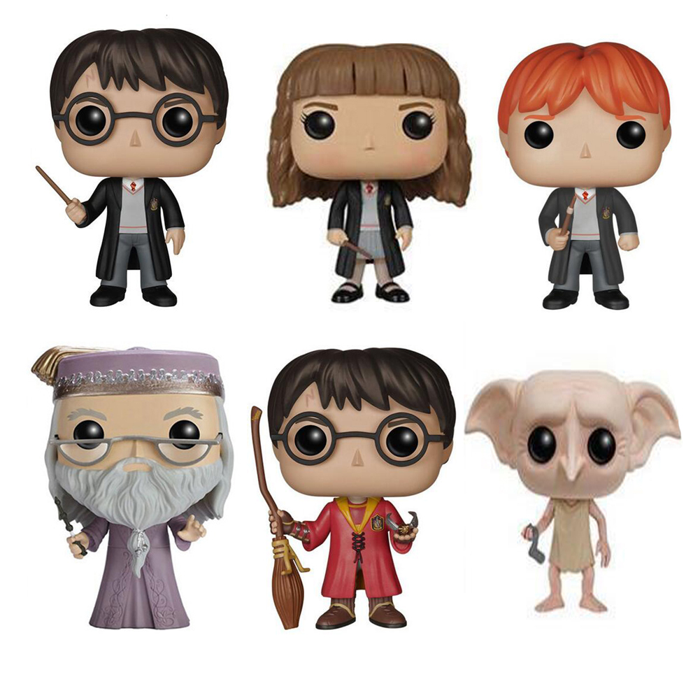 Movie Magic Hermione  Ron Dobby Luna Characters With Retail Package 10cm Vinyl Doll Figure Collection Model Toys