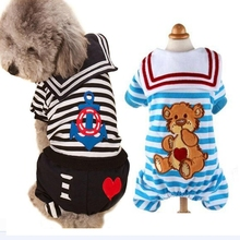 Clearance Clothing for Pet Dog Jumpsuit Teddy Poodle Rompers Dress Cat Vest Clothes Small Puppy
