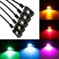 12V 2-LED SMD Motorcycle Car Number License Plate Screw Bolt Light Lamp Bulb