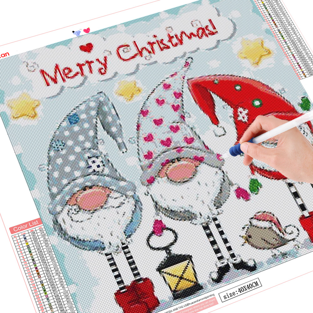 HUACAN Diamond Painting Santa Claus Diamond Mosaic Diamond Embroidery Full Set Rhinestone Picture Christmas Decorations For Home
