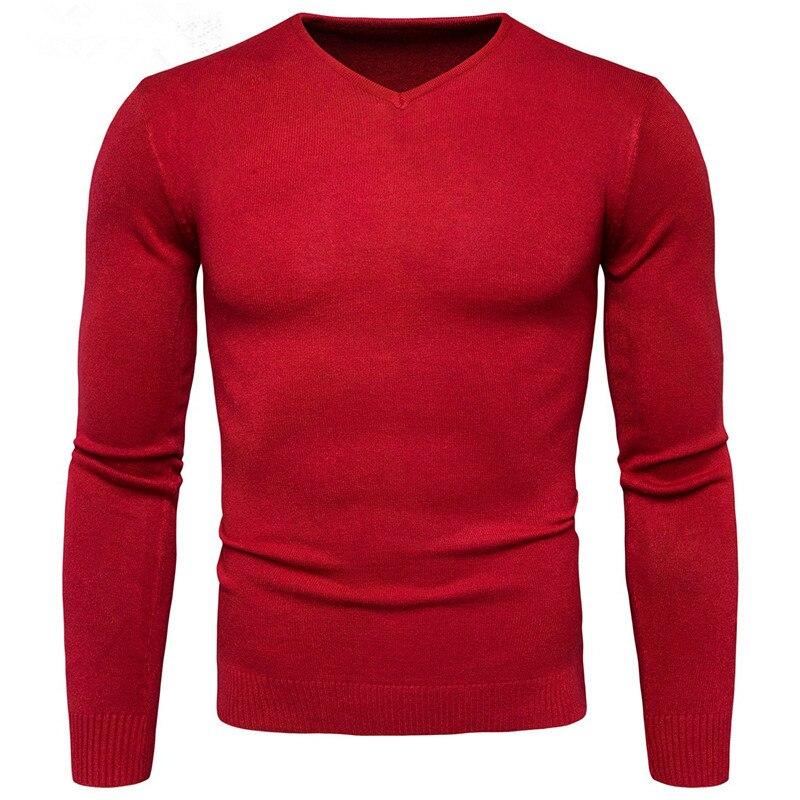 YFFUSHI 2017 New font b Men b font font b Sweater b font V Neck Long