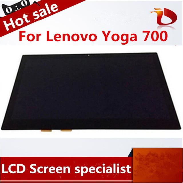 """Новый Ноутбук Жк-Экран Сенсорный Дигитайзер Ассамблеи Дисплей Для Lenovo Yoga 700 14 """"без рамки"""