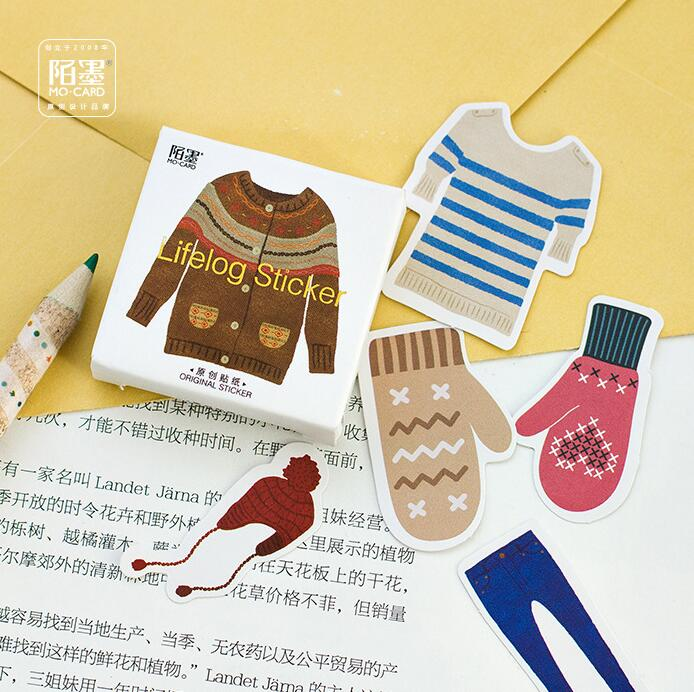 45 pcs/pack Winter Warm Clothing Sweater Decorative Stickers Adhesive Stickers DIY Decoration Diary Stickers Box Package alive for all the things are nice stickers adhesive stickers diy decoration stickers