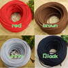 2 0 75mm 2 Vintage Twisted Electrical Wire Black Textile Cable Edison Vintage Lamp Cord Braided