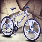 Vélo de montagne 24 pouces roue 21 vitesses 3 couteau roulement moyeu Vibration frein à disque V frein violet rouge bleu hommes et femmes vélo