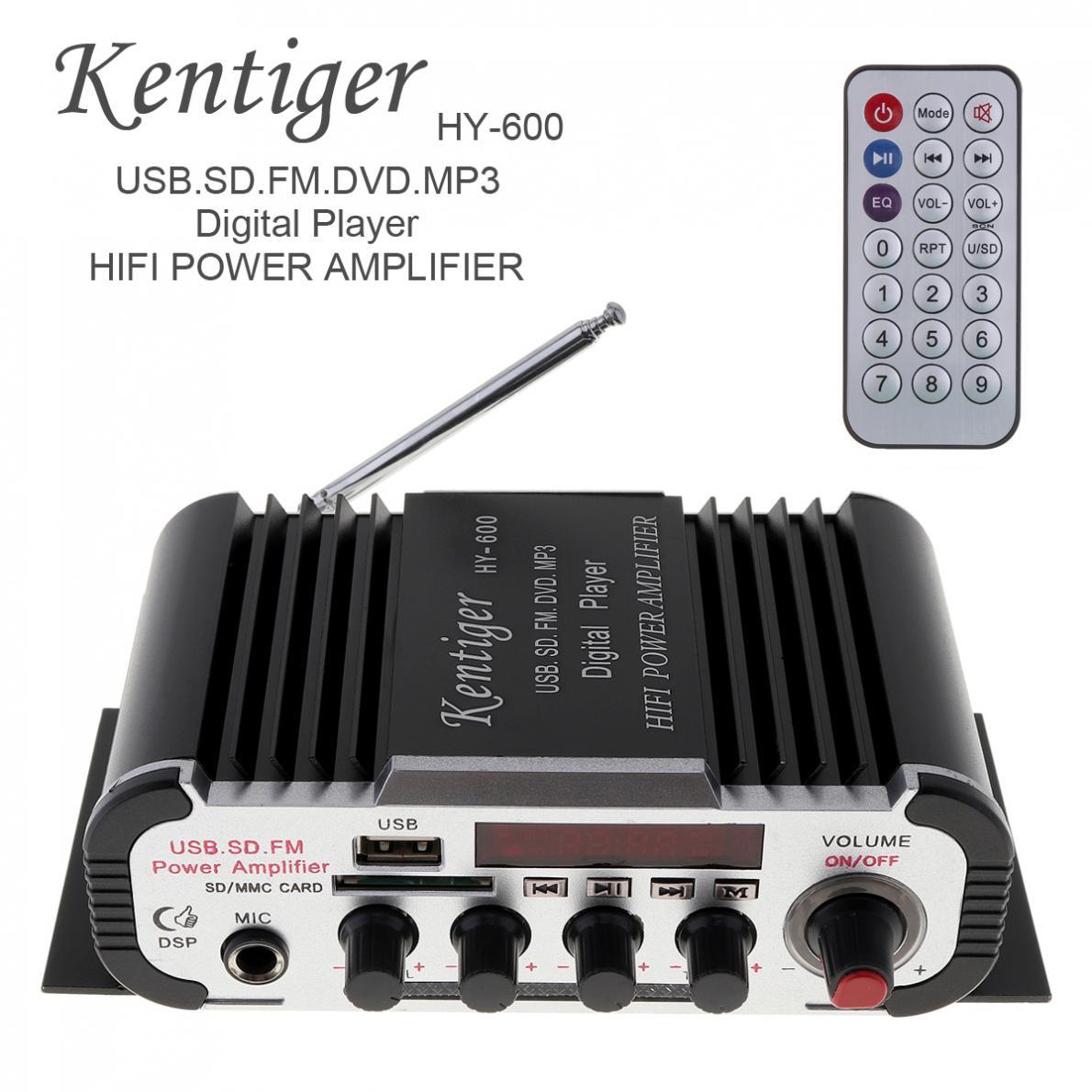 Mini Kentiger HY-600 FM di Controllo IR 20-20 khz 2 Canali FM MP3 USB HiFi Stereo Amplificatore di Potenza Digitale disc di sostegno U scheda SD/MMC